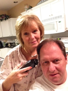 I'm a very gentle hair stylist…..usually I've had wine